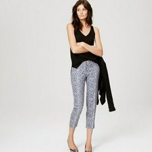 Pants - LOFT Tall Floral Vine Riviera Cropped Pants